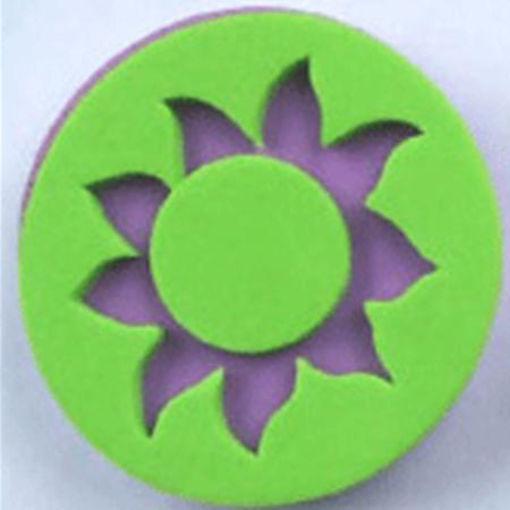 Immagine di sole verde viola