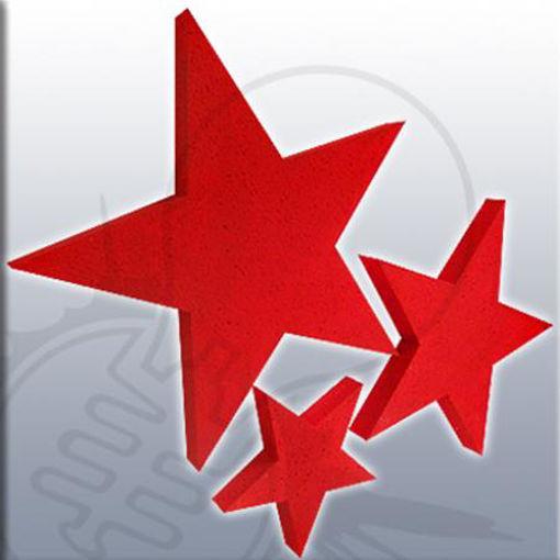 kit 3 stelle di dim.10x10cm,25x25cm,50x50cm
