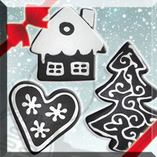Tris biscotti natalizi