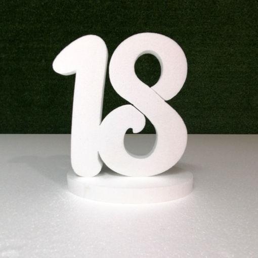 Immagine di Numeri Deco colore bianco in Polistirolo
