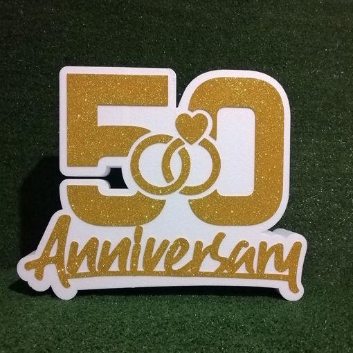 Immagine di Scritta 50th Anniversary in Polistirolo