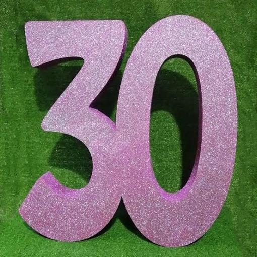 Immagine di Numeri in Polistirolo Glitterati