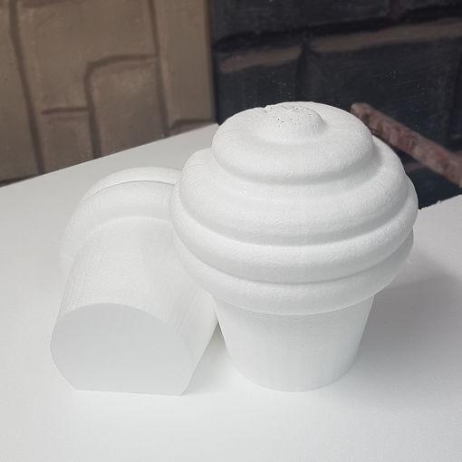 Immagine di Cup Cake in Polistirolo Bianchi