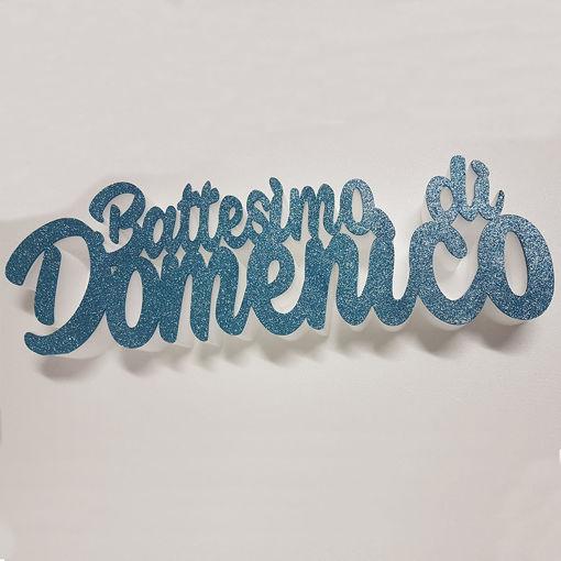 Immagine di Scritta Il Battesimo di...in Polistirolo!