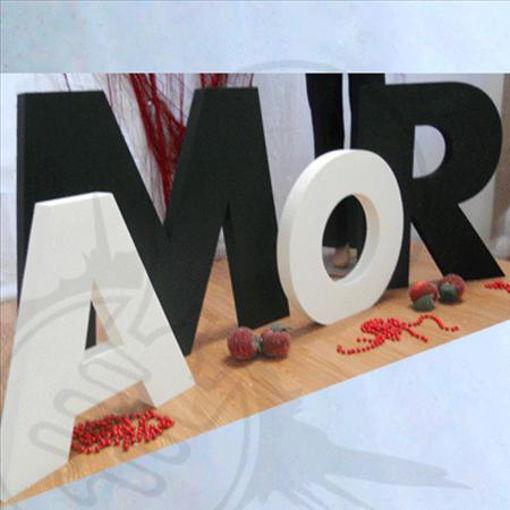 """Immagine di Kit Lettere """"Amor"""" in Polistirolo"""