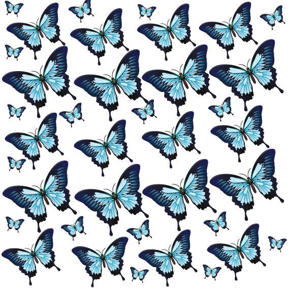 Farfalle Blu e Nere