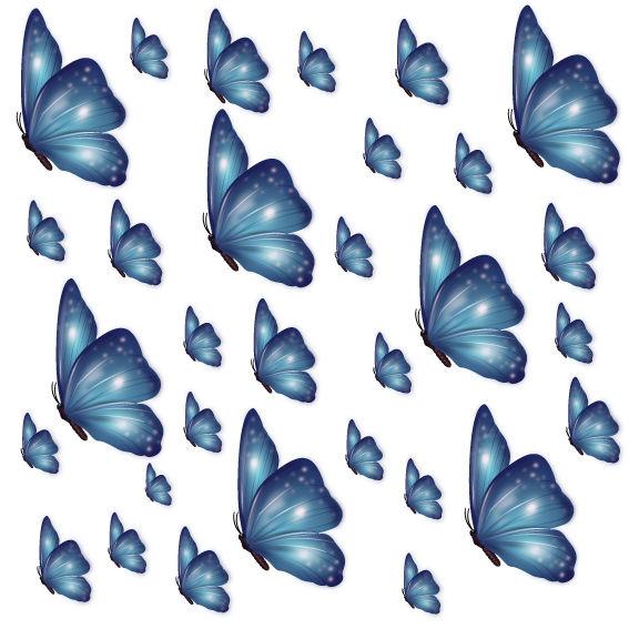 Farfalle Blu Sfumate
