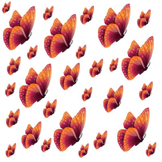 Farfalle Fucsia e Arancio